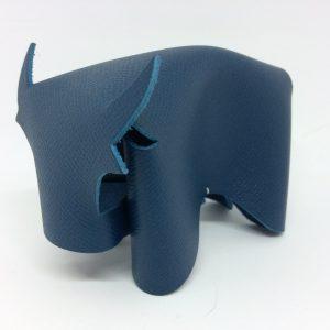 taureau en cuir bleu canard