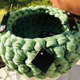 corbeille vert vif
