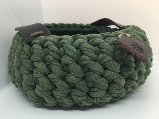 corbeille en coton kaki