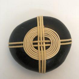 Galet zen noir