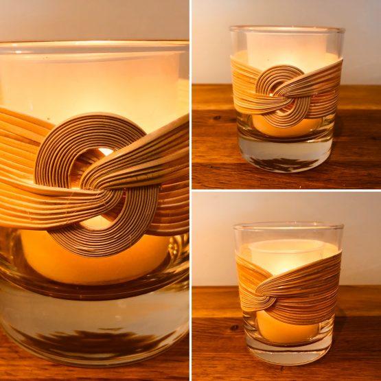 Lot de 3 verres à bougies